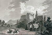 Zamek w Tucznie - Zamek według ryciny Anastazego Raczyńskiego z 1843 roku, Edward Raczyński, Wspomnienia Wielkopolski