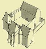 Zamek w Ujeździe - Rekonstrukcja zamku sprzed 1484 roku