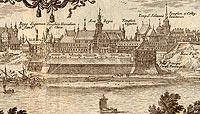 Zamek Królewski w Warszawie - Zamek w 1656 roku według E.J.Dahlbergha