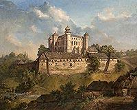 Zamek w Wiśniczu Nowym - Zamek w Wiśniczu na obrazie Andrzeja Grabowskiego z 1857 roku
