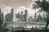 Zamek w Wyszynie - Zamek w Wyszynie na litografii Konstancji Raczyńskiej, Wspomnienia Wielkopolski to jest województw poznańskiego, kaliskiego i gnieźnieńskiego, 1843