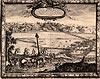 Zamek w Zakroczymiu - Pozostałości zamku na sztychu Erika Dahlbergha z dzieła Samuela Pufendorfa 'De rebus a Carolo Gustavo gestis', 1656 rok