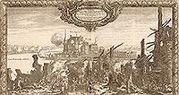 Zamek w Złotowie - Zamek na sztychu Erika Dahlbergha z dzieła Samuela Pufendorfa 'De rebus a Carolo Gustavo gestis', 1656 rok