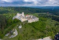 Zamek w Rabsztynie - Widok z lotu ptaka, fot. ZeroJeden, V 2020