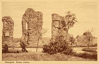 Zamek w Raciążku - Ruiny zamku na pocztówce z około 1910 roku