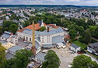 Zamek w Raciborzu - Widok z lotu ptaka od zachodu, fot. ZeroJeden, X 2012