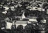 Zamek w Raciborzu - Zamek w Raciborzu na zdjęciu lotniczym z okresu międzywojennego