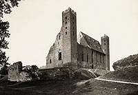 Zamek w Radzyniu Chełmińskim - Zamek w Radzyniu na zdjęciu z lat 1927-35