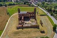 Zamek w Radzyniu Chełmińskim - Zdjęcie lotnicze, fot. ZeroJeden, VII 2020