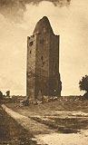 Zamek w Rawie Mazowieckiej - Wieża zamkowa na pocztówce z 1915 roku