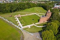 Zamek w Rawie Mazowieckiej - Widok z lotu ptaka, fot. ZeroJeden, V 2020