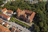 Zamek w Reszlu - Zdjęcie lotnicze, fot. ZeroJeden, IX 2021