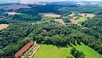Zamek w Rogóźnie - Zdjęcie lotnicze, fot. ZeroJeden, VII 2020