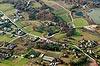 Zamek w Rożnowie - Widok z lotu ptaka od wschodu, fot. ZeroJeden, X 2013