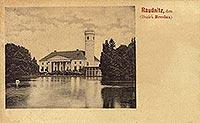 Zamek w Rudnicy - Dwór w Rudnicy na pocztówce z 1899 roku