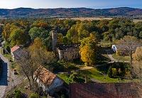 Zamek w Rudnicy - Zamek na zdjęciu lotniczym, fot. ZeroJeden, X 2020