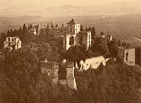 Zamek Tenczyn w Rudnie - Zamek Tenczyn na zdjęciu lotniczym z 1930 roku