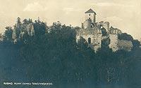 Zamek Tenczyn w Rudnie - Zamek Tenczyn na pocztówce z 1906 roku