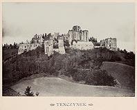 Zamek Tenczyn w Rudnie - Ruiny Tenczyna na zdjęciu Józefa Zajączkowskiego z 1905 roku