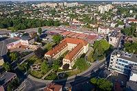 Zamek w Rybniku - Zdjęcie lotnicze, fot. ZeroJeden, VI 2019
