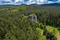 Strażnica w Ryczowie - Widok z lotu ptaka, fot. ZeroJeden, V 2020