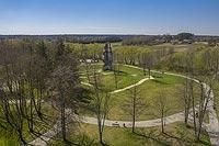 Zamek w Rytwianach - Zdjęcie lotnicze, fot. ZeroJeden, IV 2021