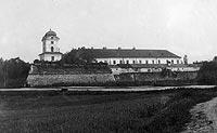 Zamek w Rzeszowie - Zamek na widokówce z 1899 roku