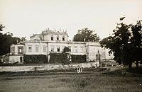 Zamek w Sancygniowie - Pałac w Sancygniowie na zdjęciu Henryka Poddębskiego z około 1936 roku