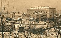 Zamek w Sandomierzu - Zamek na pocztówce z 1915 roku