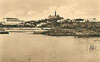 Zamek w Sandomierzu - Sandomierz na pocztówce z okresu międzywojennego