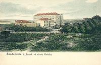 Zamek w Sandomierzu - Zamek sandomierski na pocztówce z około 1910 roku