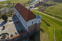 Zamek w Sandomierzu - Zdjęcie lotnicze, fot. ZeroJeden, IV 2021