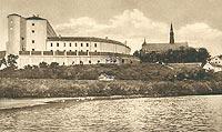 Zamek w Sandomierzu - Zamek w Sandomierzu na pocztówce z 1930 roku