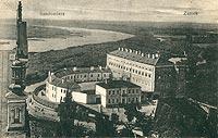 Zamek w Sandomierzu - Zamek na pocztówce z 1919 roku