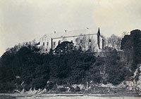 Zamek Królewski w Sanoku - Zamek w Sanoku na fotografii z lat 1892-97