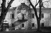 Zamek Królewski w Sanoku - Zamek w Sanoku na zdjęciu z okresu międzywojennego