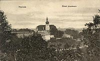 Dwór Sarny w Ścinawce Górnej - Dwór Sarny na widokówce z 1911 roku