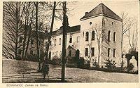 Zamek w Sosnowcu-Sielcach - Zamek w Sielcach na pocztówce z 1927 roku
