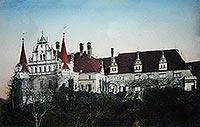Zamek w Siedlisku - Zamek w Siedlisku na pocztówce z 1912 roku