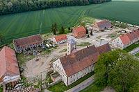 Zamek w Siemisławicach - Zdjęcie z lotu ptaka, fot. ZeroJeden, V 2020