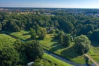Zamek w Sierpcu - Zdjęcie lotnicze, fot. ZeroJeden, VII 2020