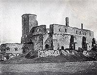 Zamek w Siewierzu - Zamek w Siewierzu na zdjęciu z 1899 roku