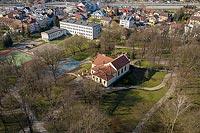 Zamek w Skawinie - Zdjęcie lotnicze, fot. ZeroJeden, IV 2021