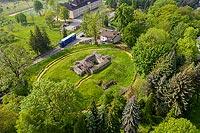 Zamek w Sławkowie - Widok z lotu ptaka, fot. ZeroJeden, V 2020