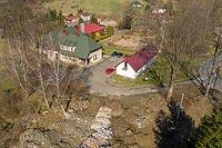Zamek w Ślemieniu - Zdjęcie lotnicze, fot. ZeroJeden, IV 2021