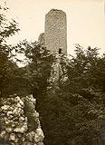 Zamek w Smoleniu - Wieża zamkowa na fotografii z 1939 roku