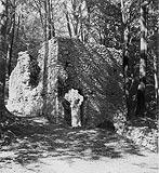 Zamek w Smoleniu - Ruiny zamku w Smoleniu na zdjęciu z lat 1918-35