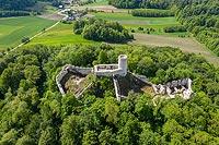 Zamek w Smoleniu - Widok z lotu ptaka, fot. ZeroJeden, V 2020