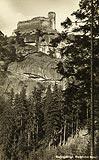 Zamek Chojnik w Sobieszowie - Chojnik na pocztówce z 1930 roku