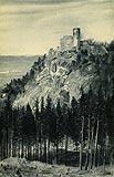 Zamek Chojnik w Sobieszowie - Chojnik na pocztówce z 1925 roku